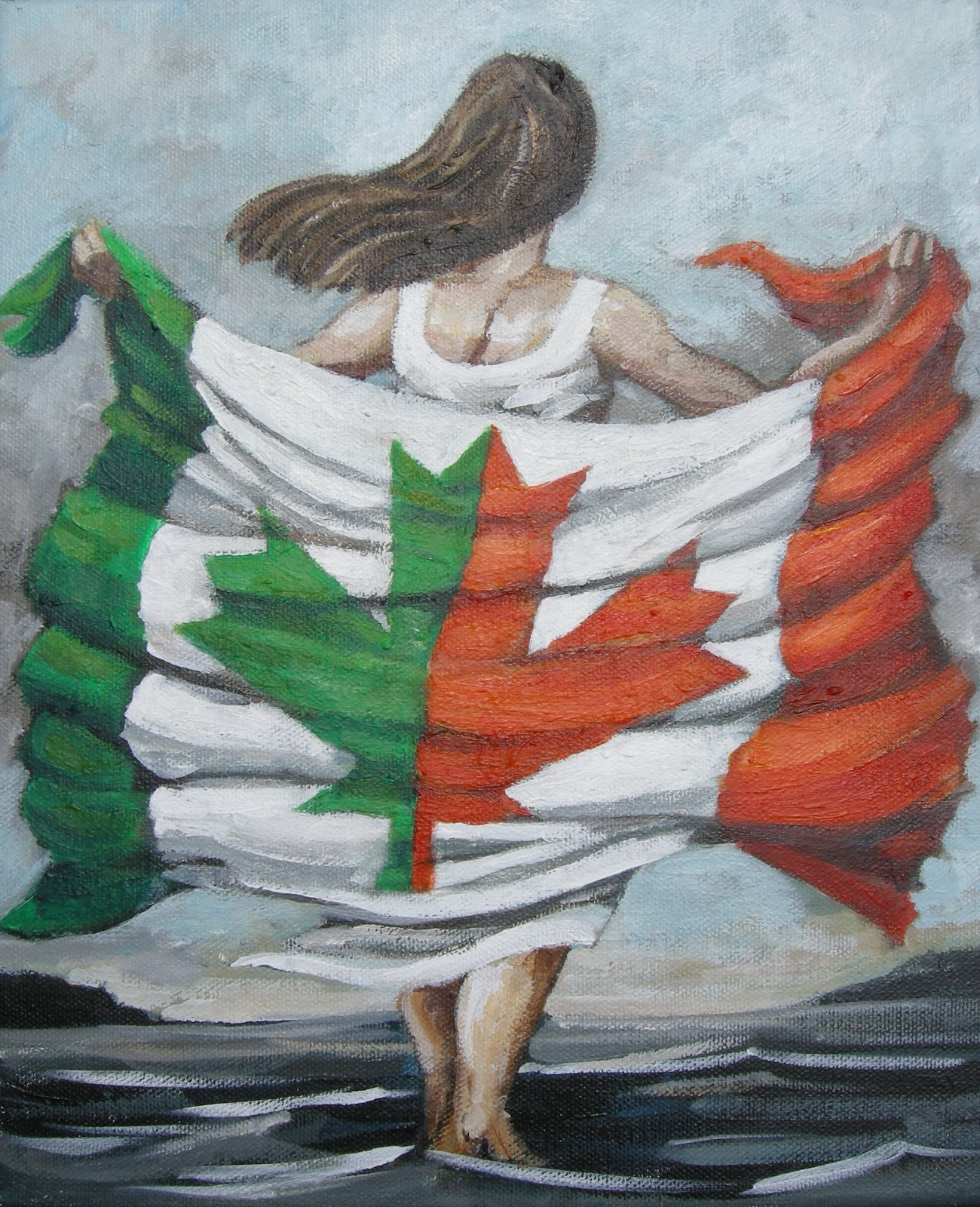 the mad craft shoppe irish canadian flag canadian project
