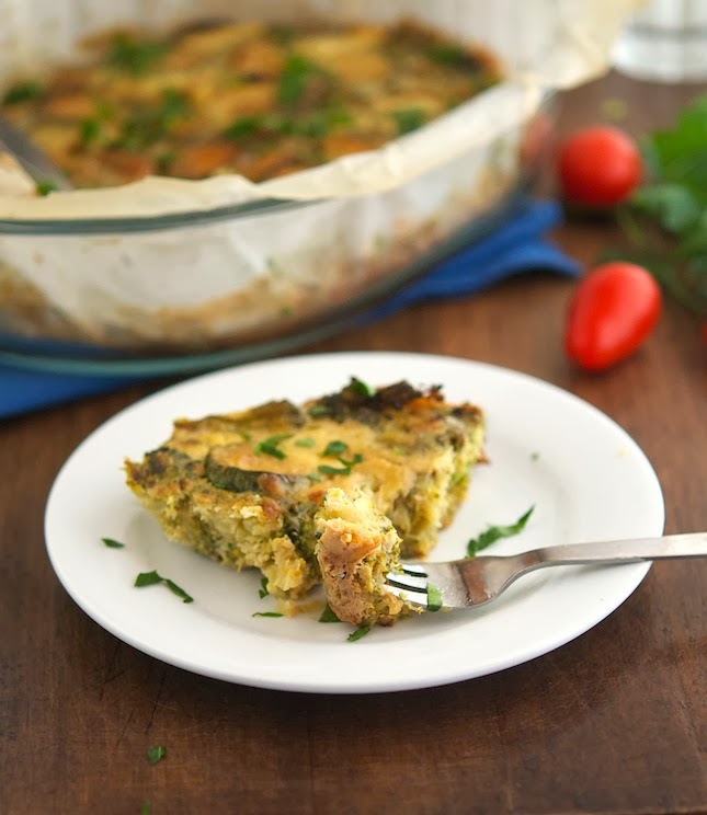Sauteed Broccoli and Zucchini Casserole