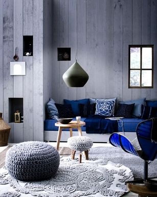 [A cool interior with hand-made decorations]