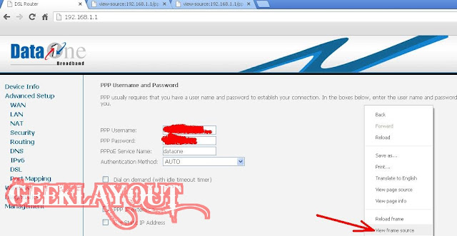 how to know bsnl broadband username password