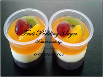 Fruit Pudding 3 layer