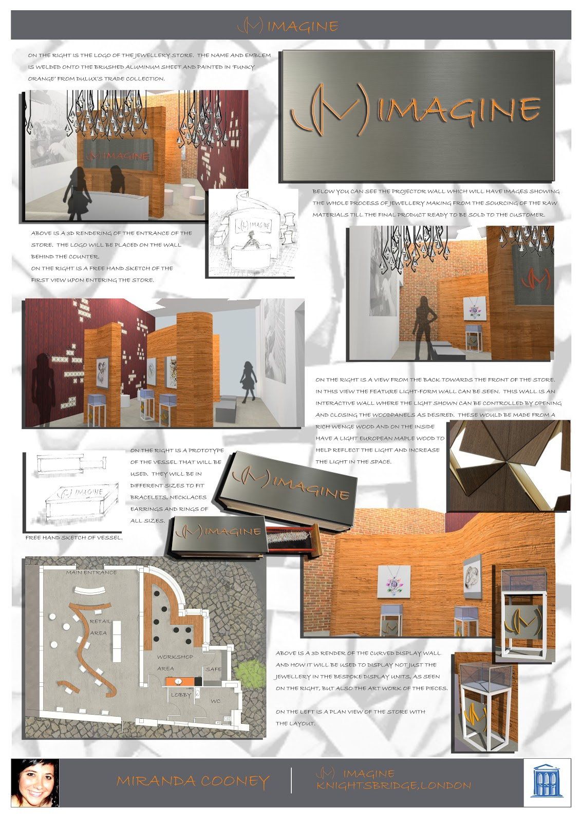 Design at st johns interior architecture design students - Interior design presentation layout ...
