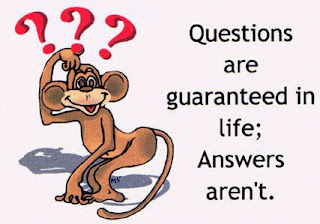 Questions are guaranteed in life, answers are not.