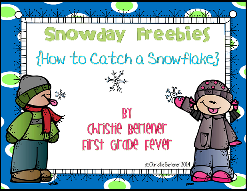http://www.teacherspayteachers.com/Product/Snowday-Freebies-How-to-Catch-A-Snowflake-1049050