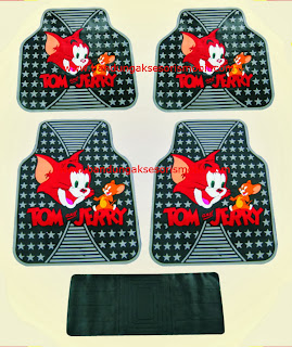 Karpet Tom & Jerry Merah