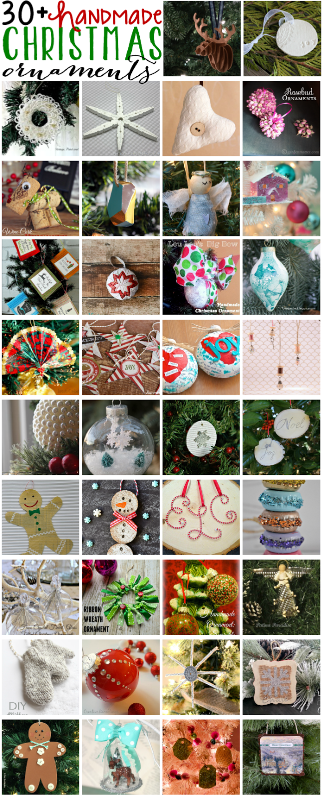 30 Handmade Ornament Ideas