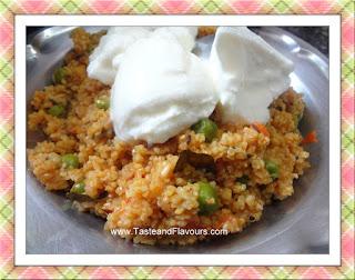 Namkeen Daliya with vegetables (Broken wheat with veggies)