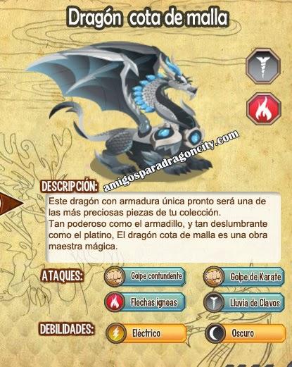 imagen de las caracteristicas del dragon cota de malla
