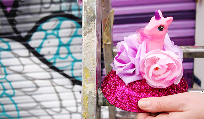 My Little Pony fascinator, pink fascinator, kitsch headwear