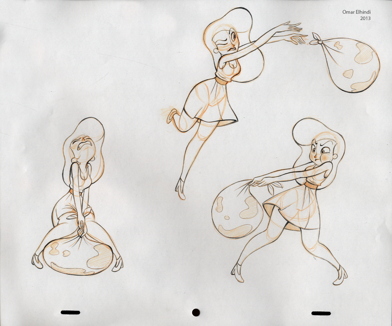 Character Design Poses : Omar s animation character design assignment