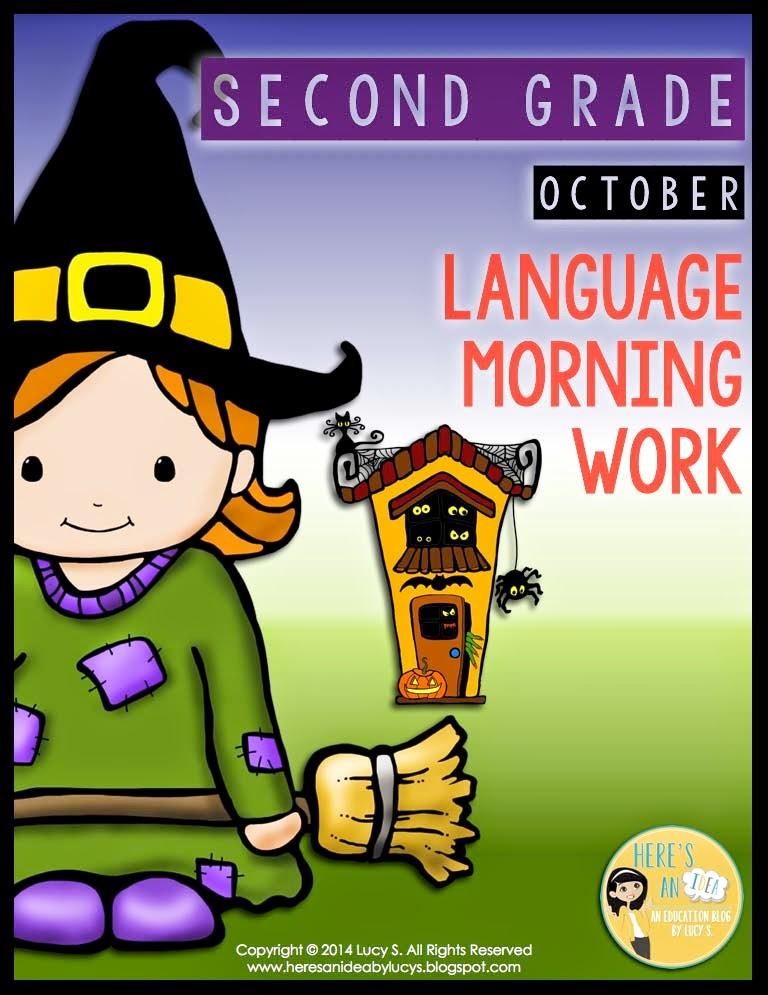 2nd grade OCTOBER language morning work