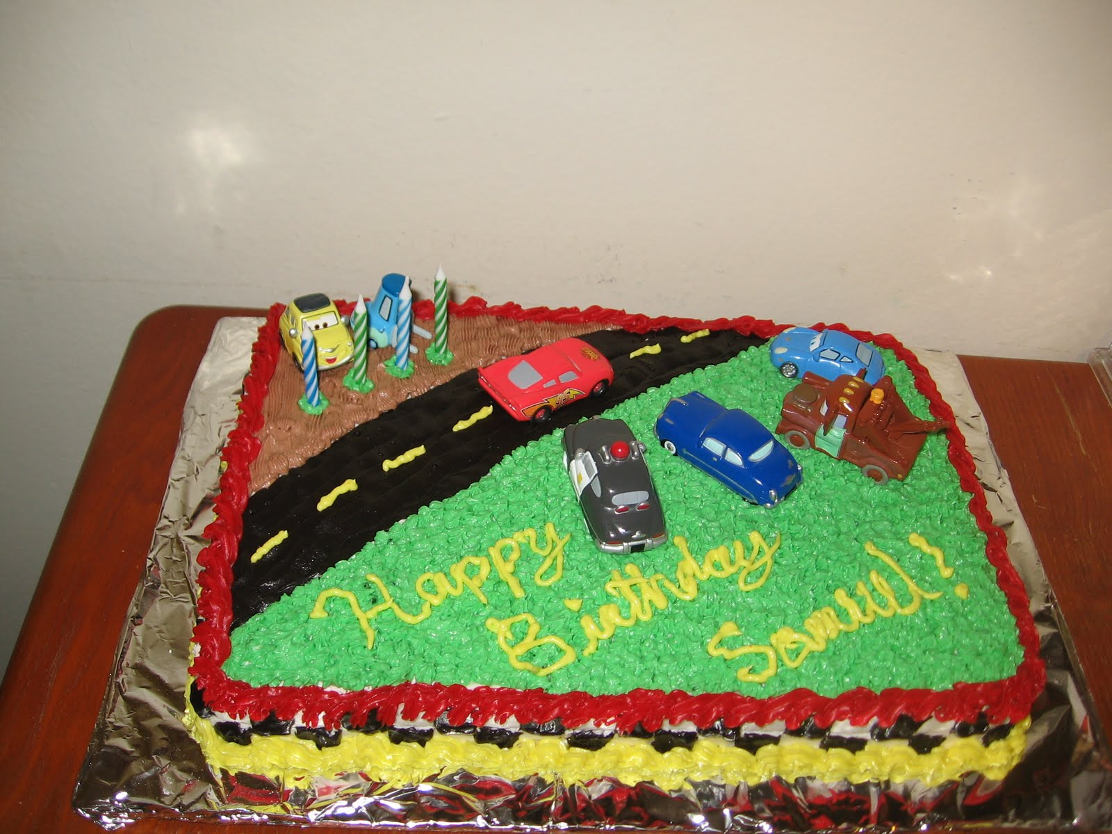 Sweets to the Sweet Lightning McQueen Cake