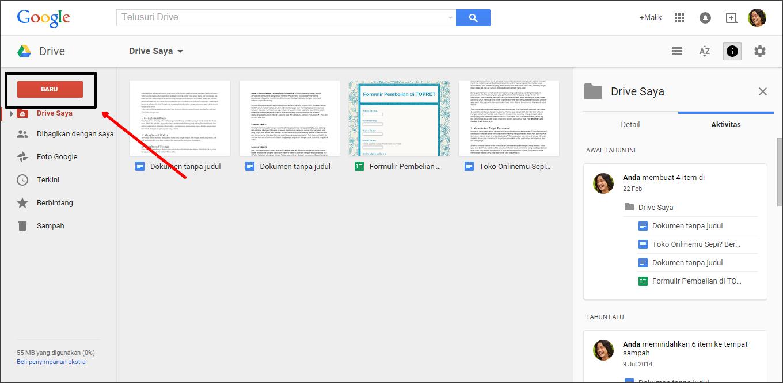 Simpan Filemu Secara Online di Google Drive