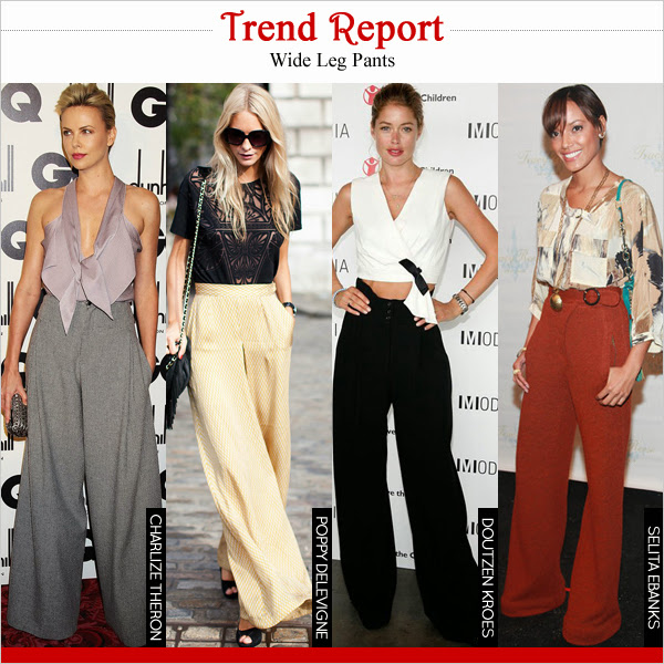 Celebrity in Wide Leg Pants
