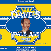 Oskar Blues Dave's Pale Ale - tap only