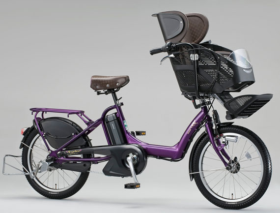 two integrated child seats and safety systems, this Bridgestone Angelino Assista e-Bike is made for moms on the go. It features a three-speed pedal-assist function, which helps a rider climb hills and zip through straightaways,