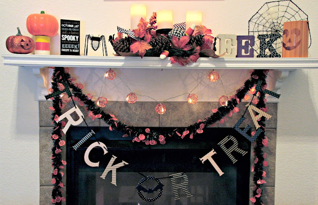 Halloween Mantle, Mantle Makeover, Makeover your mantle on a budget