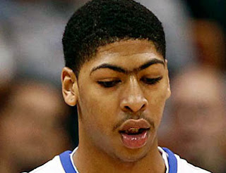 anthony davis, new orleans pelicans, unibrow, nba, basketball
