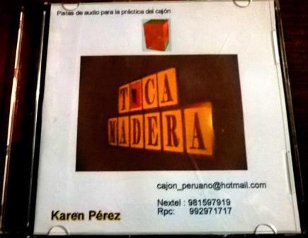 Portada CD - Toca Madera