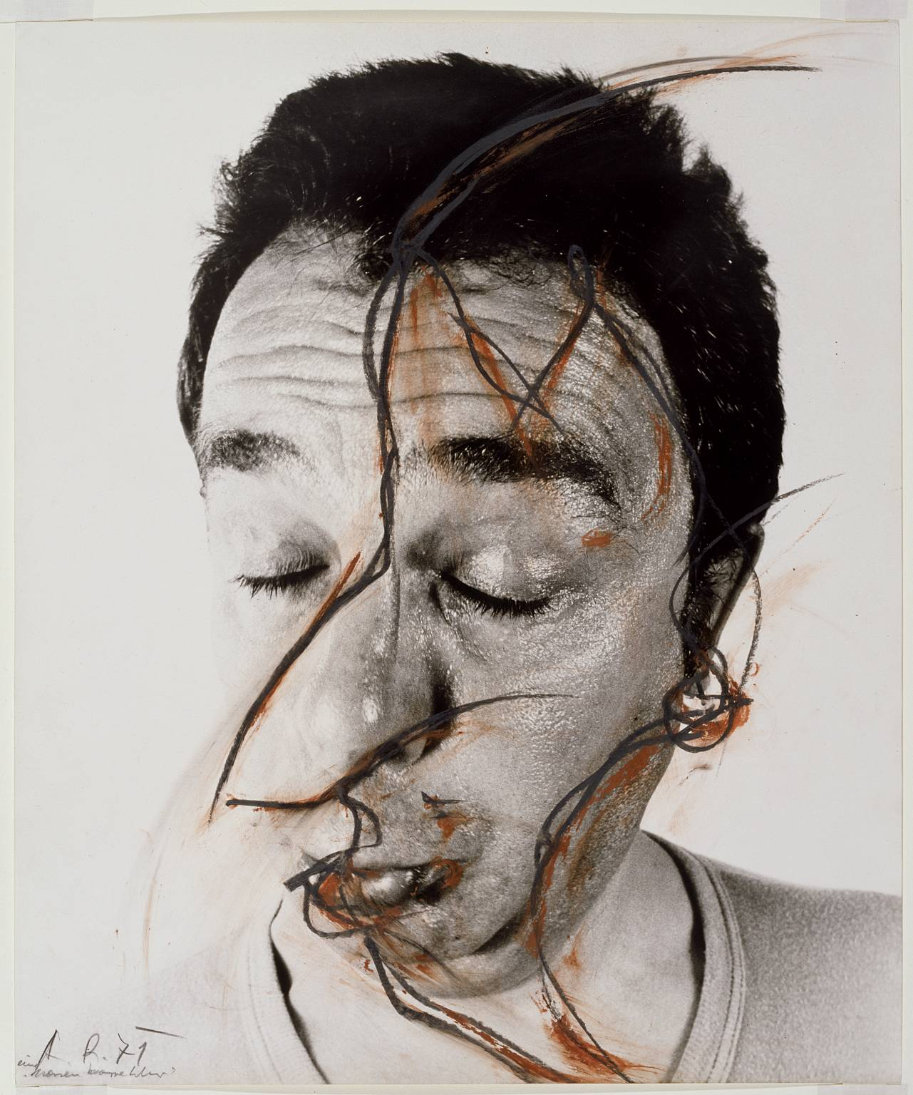 Dongdong 39 s blog research on the work of arnulf rainer for Farcical person