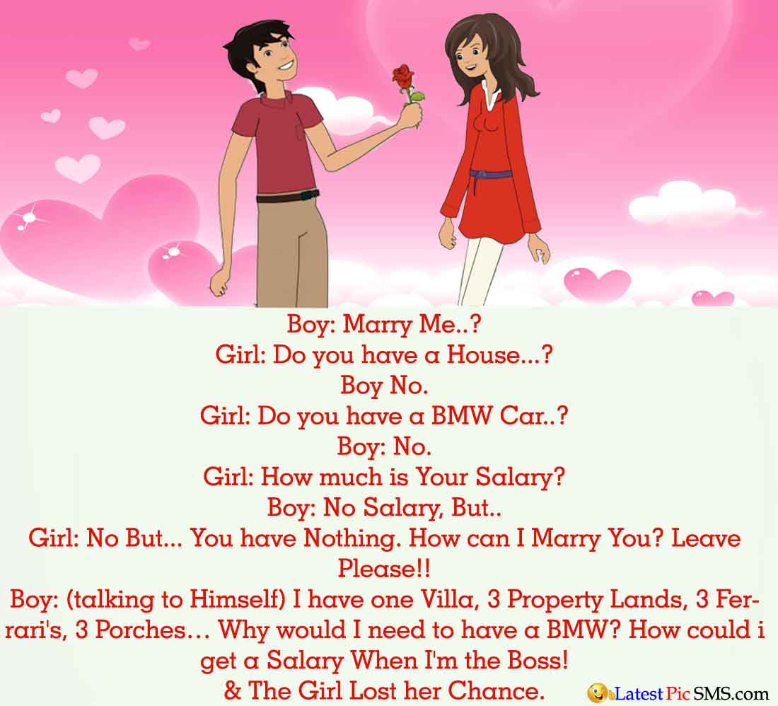 Boy Propose Girl English Jokes