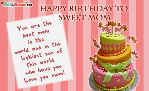 Birthday Cards For Son From Mother gangcraftnet – Birthday Greetings for Mother