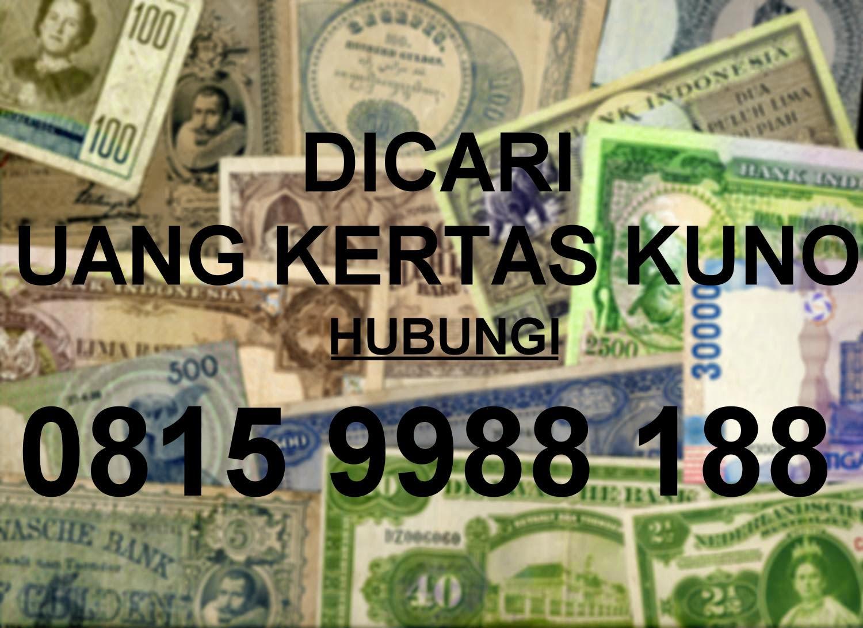 Uang kertas DICARI