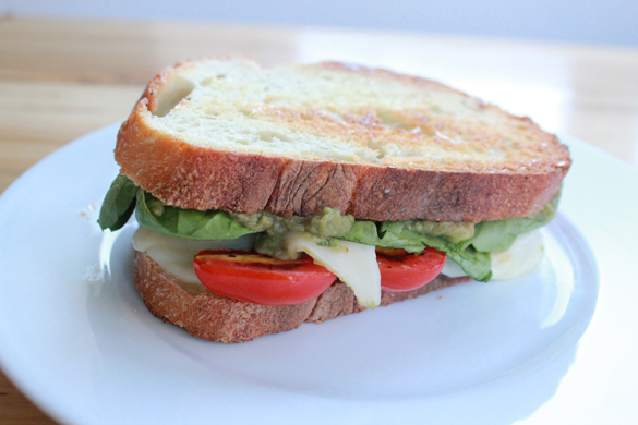 The Forge: recipe: guacamole grilled cheese