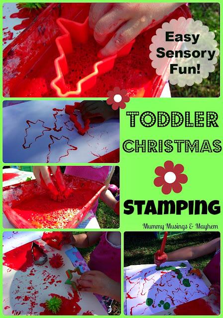 Toddler christmas sensory craft