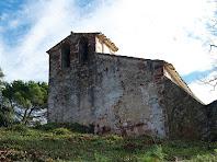 Façana de ponent de Sant Cristòfol de Monteugues