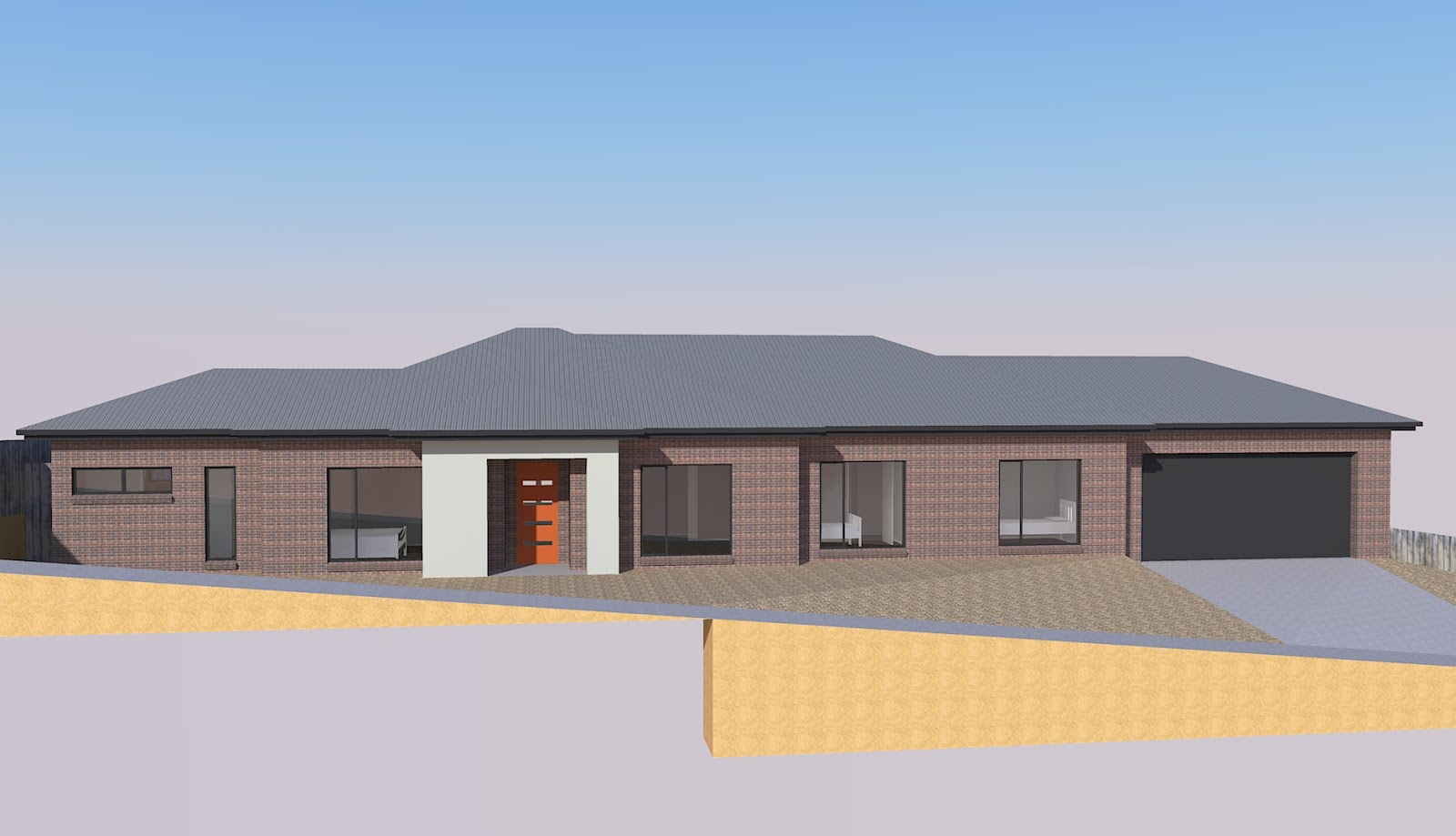 Yourbuilds our house build sketchup new finish renders for Sketchup building