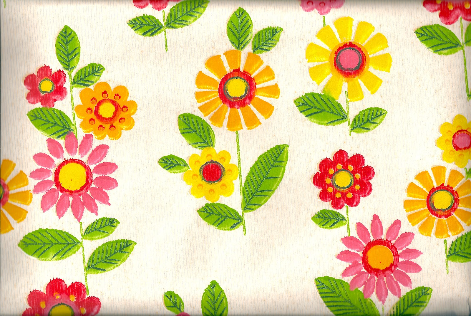 Pomme De Jour Blog Vintage 1970s Wallpaper Pink Yellow And Red