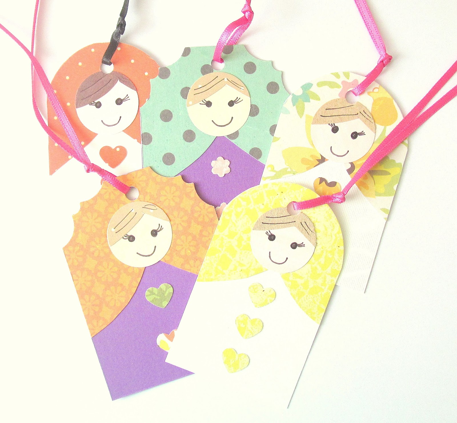 russian doll gift tags
