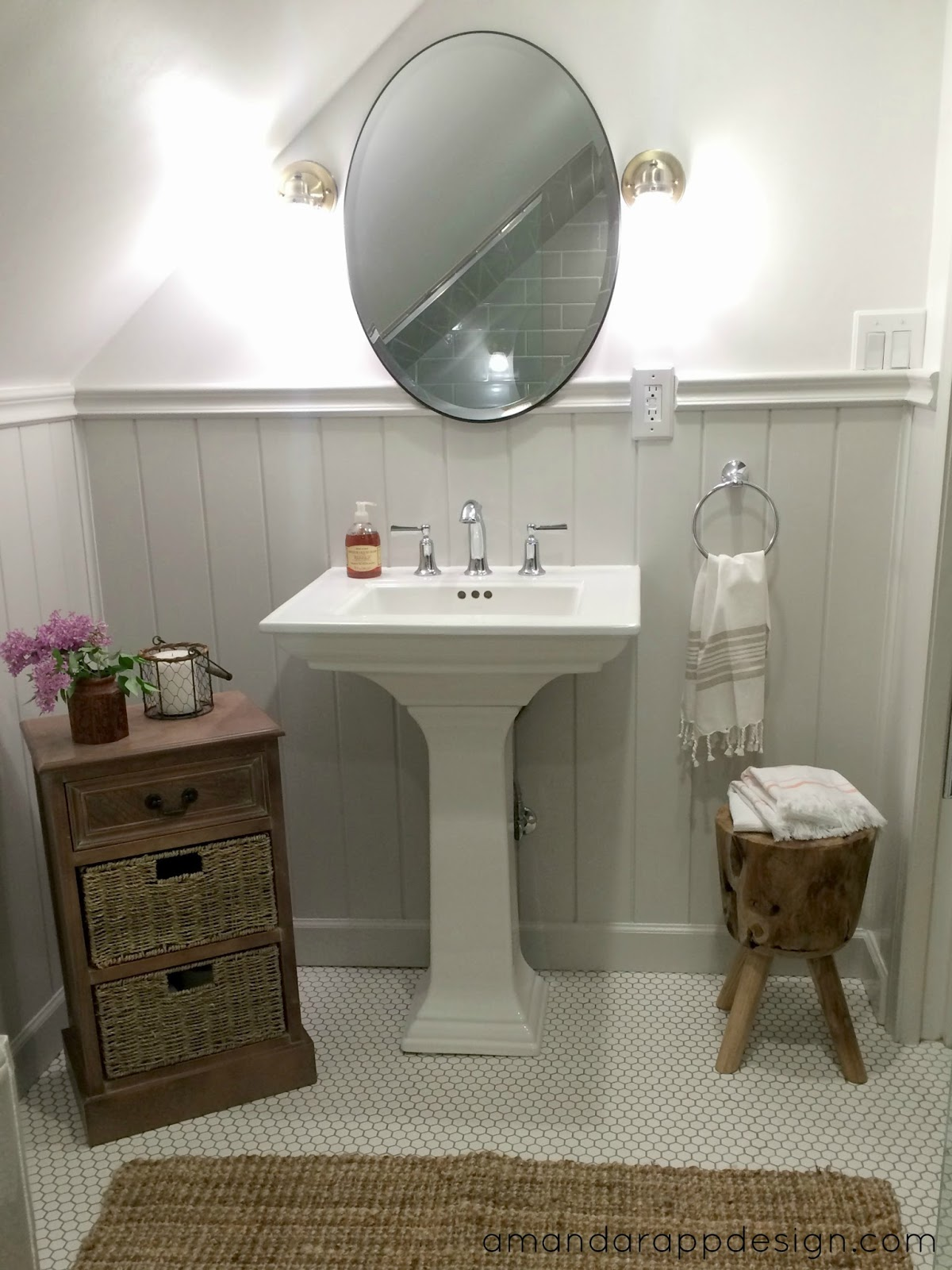 Kohler Elliston Sink : This is the finished space- we are so happy with the results! All the ...
