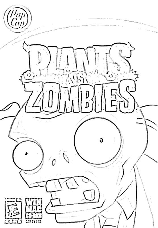 Dibujos de plantas vs zombies para colorear e imprimir - Imagui