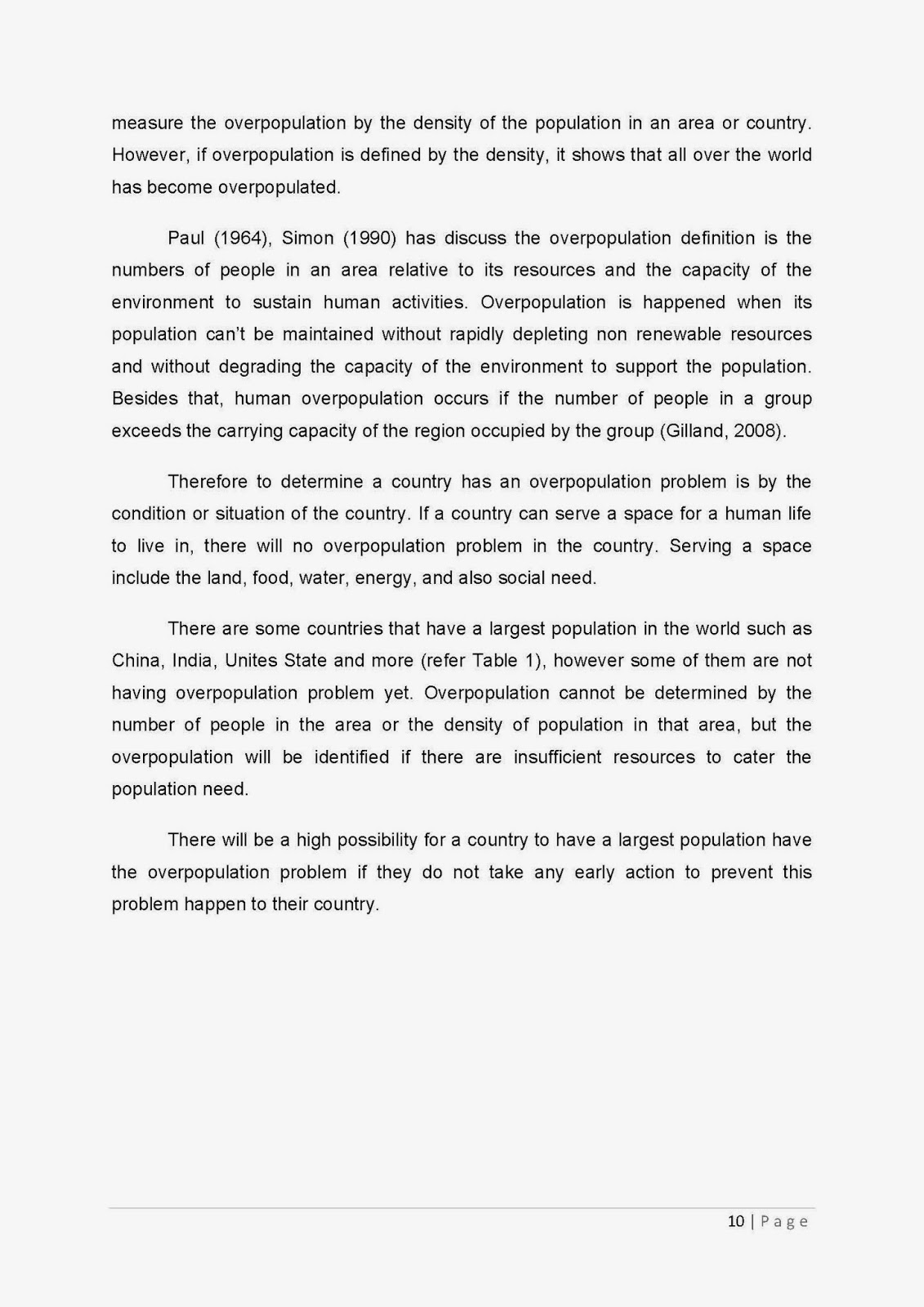 overpopulation paper Az writing | sample essays, example research papers and tips  natural  resources and are unaware of the fact that overpopulation is a real.