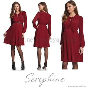 Crown Princess Victoria wore SERAPHINE Woven Crepe Maternity Dress