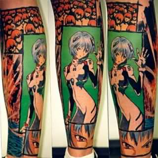 Evangelion Anime Tattoo