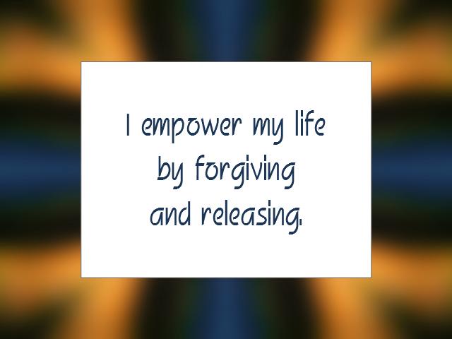 RELEASING affirmation