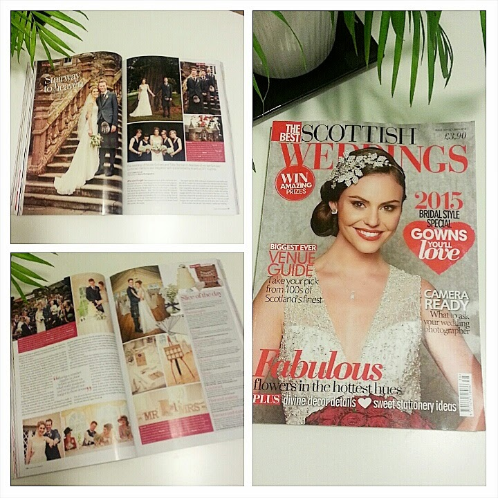 wedding magazine published work advising brides on hairstyling
