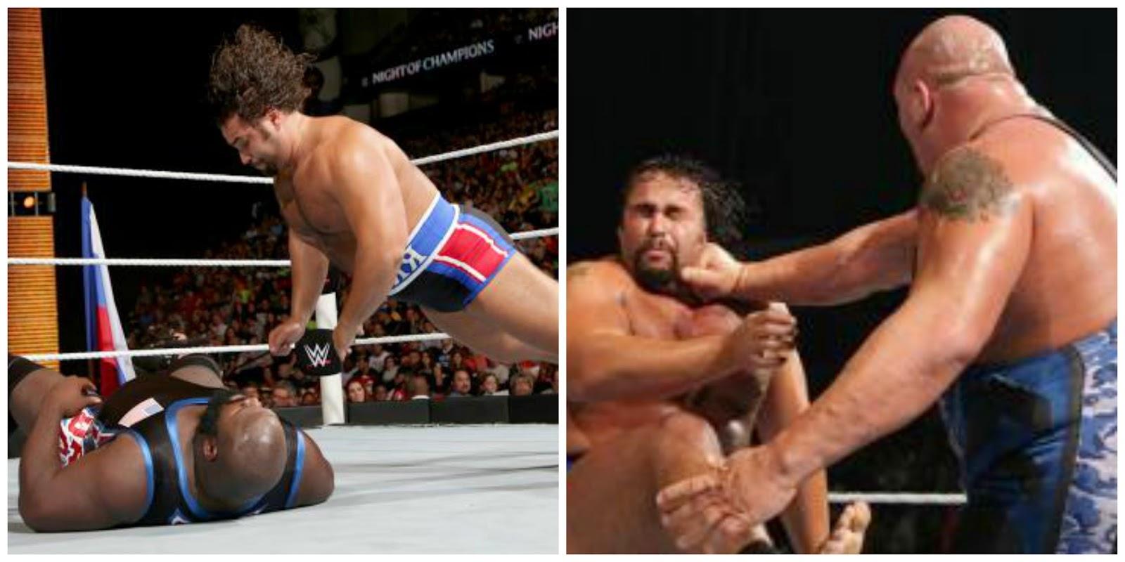 Rusev versus Mark Henry feud