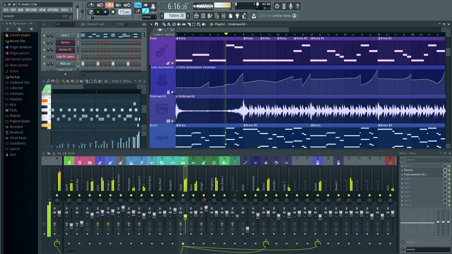 Fl studio 12 adalah perangkat lunak yang digunakan oleh produser musik untuk membuat atau mengedit (remix) lagu (bisa edit lagu luar menjadi dangdut) fitur software ini sangat lengkap
