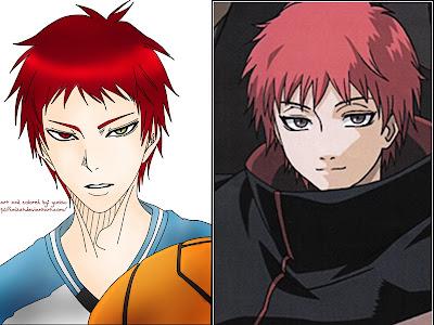 Akashi Seijuro (Kuroko No Basket) dan Sasori (Naruto Shippuden)
