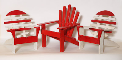 Early 20th century miniature Adirondack chairs