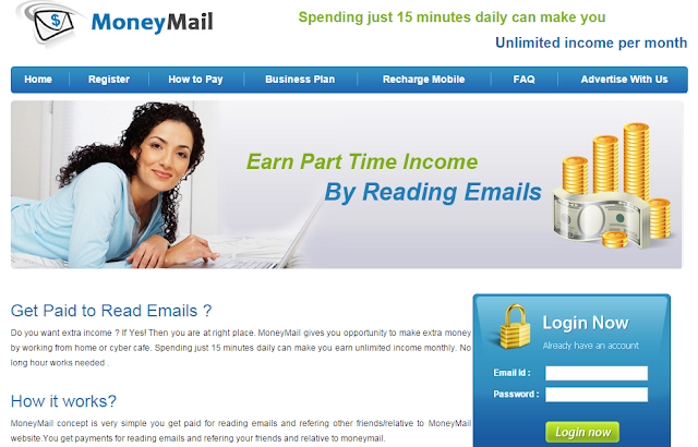 Moneymail.in Make Money Online By Reading Email