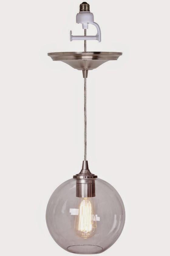 glass orb pendant light kit