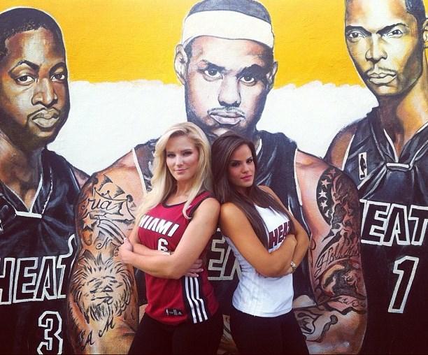 Beauty Babes: 2013 NBA Playoffs East Finals Basketball Babe Battle: Miami Heat vs. Indiana ...