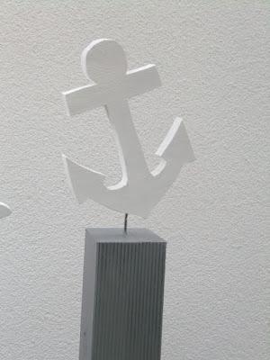 maritime Gartendeko Hozpfosten