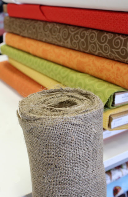 Burlap and Fall Fabrics from Riley Blake