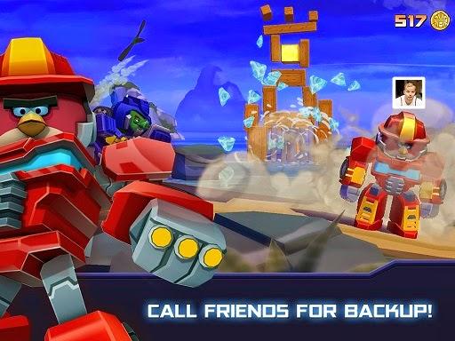 لعبة الطيور الغاضبه المتحوله للاندرويد - Angry Birds Transformers Apk